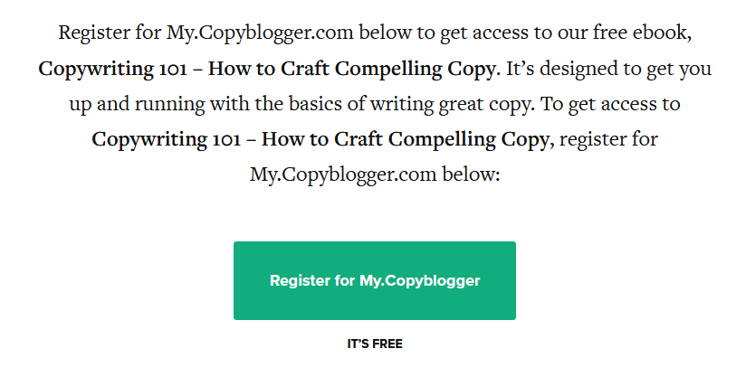 Creating Desire: Copyblogger Free eBook