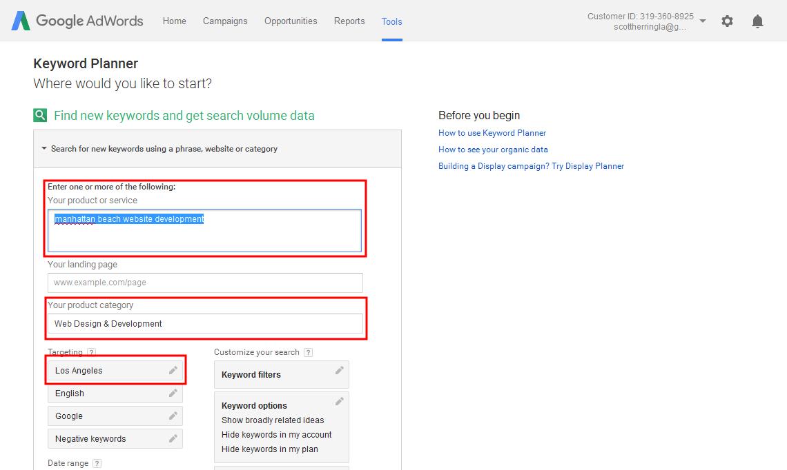 Online Marketing 101: SEO Hack - Using Google Keyword Planner
